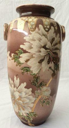 Satsuma Chinese Famille Rose Imperial Porcelain Vase.