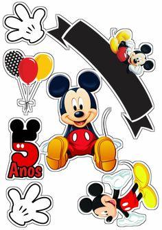 Bolo Mickey E Minnie, Mickey Mouse E Amigos, Mickey Mouse Cake Topper, Mickey Mouse Images, Theme Mickey, Mickey Mouse Clubhouse Birthday Party, Mickey Birthday, Mickey Mouse And Friends, Minnie Mouse Party