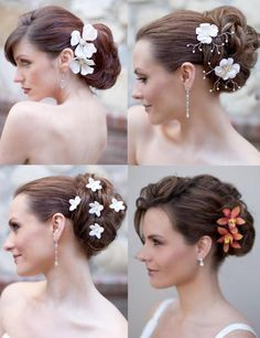 Elegant  Beach Hair style - Tropical Flowers i WILL choose one of these hairdos for my wedding day! :D