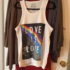 Love Is Love Men's Tank Top From Targets PRIDE collection! Never worn. Love is love :) Target Tops Tank Tops