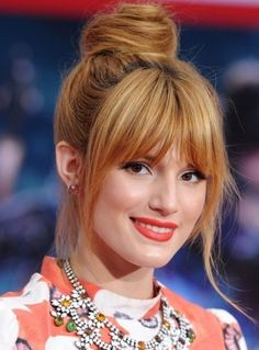 20 bun hairstyles with bangs Easy Hairstyles For Long Hair, Celebrity Hairstyles, Hairstyles With Bangs, Cool Hairstyles, Edgy Long Hair, Long Hair With Bangs, Thin Hair, Bangs And Glasses, Hot Haircuts