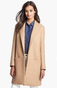 Theory 'Elizabeth' Wool Blend Coat available at #Nordstrom