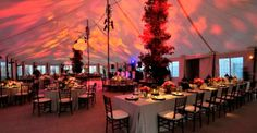 Interior view of Spinnaker Marquee | November Newsletter | Stamford Tent & Events Services