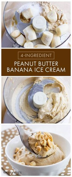 The 4-ingredient peanut butter ice cream that will have you taste buds going crazy! Need a quick dessert, or just a little pick me up this at home DIY ice cream is the best! Womanista.com