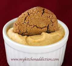 Last Minute Pumpkin Mousse Dip - from My Kitchen Addiction  (will def. try this with fat free pudding and maybe served in a Jack be Little pumpkin)