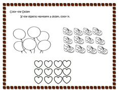 How Many are There in a Dosen? Help your child determine what is a dozen and how many items are there in a dozen with this worksheet. Kindergarten Math Worksheets