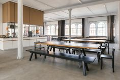The kitchen at Studio Eliasson - they feed 90 staff at lunch everyday (Rene Redzepi often cooks for them...). Sounds pretty great.