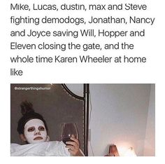 I honestly don't like Mike's parents especially his dad, like he's only there for the chicken