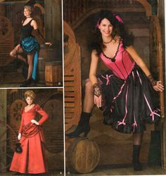 Simplicity Western Saloon Can-Can Costumes Pattern 2851 Size 6-12 FF