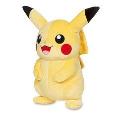 Official Pikachu Poké Plush. 5 inch tall, standard-size plush. Great gift for the Pokémon fan. Pokémon Center Original design.