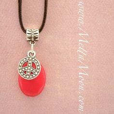 MettaMoon Ruby Red Citrine & Peace Charm Necklace www.MettaMoon.com