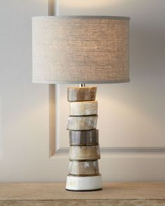 Stacked Horn Table Lamp, Jamie Young Stacked Horn Table Lamp, Jamie Young Stacked Horn Table Lamp, Ivy Bronx Lefler Table Lamp Base Color: Jamie Young Stacked Horn Table Lamp x Alabaster Lamp, Ceramic Table Lamps, Unique Lamps, My Living Room, Lamp Bases, Elle Decor, Lamp Design, Floor Lamp, Home Furnishings