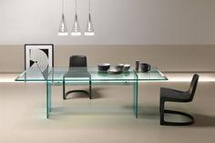 GlazenDesignTafel.nl | Glazen eettafel LLT | FIAM | Italian design | Glass table by Danto O. Benini & Luca Gonzo | vidre glastoepassingen, Leiden