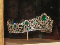 For decades the Angouleme emerald tiara was lost to public view. Until 1960's when it was found to be in storage in the vaults of Wartski.