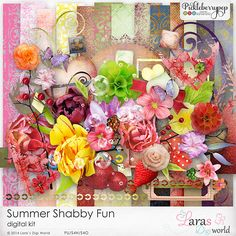 Summer Shabby Fun Kit by Lara's Digi World #larasdigiworld #pickleberrypop #digitalscrapbooking