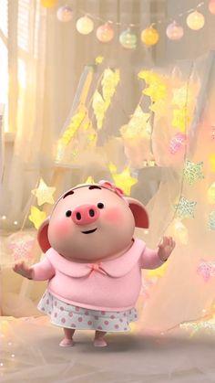 Ios 11 Wallpaper, Snoopy Wallpaper, Cartoon Wallpaper, Three Little Pigs, This Little Piggy, Kawaii Pig, Pig Girl, Cute Piglets, Wonder Art