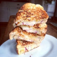 Birthday breakfast-stacks of grilled cheese w/ Running-rabbit Inc. award-winning extra old cheddar. Cheese Recipes, Cooking Recipes, Easy Recipes, Canadian Cheese, Milk And Cheese, Birthday Breakfast, Simple Pleasures, Cheddar, Easy Meals