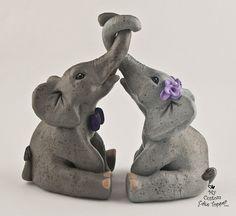 Elephant Wedding Cake Topper by MyCustomCakeTopper on Etsy