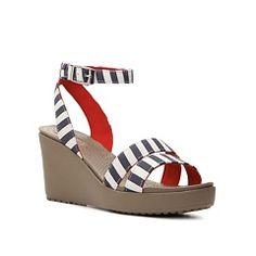 Crocs Leigh Graphic Wedge Sandal