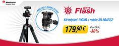 Vente flash Miss Numérique avec -30% sur le kit trépied Manfrotto 190XB + rotule 3D 804RC2