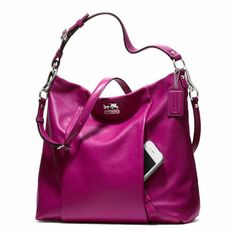 Coach Madison Leather Isabelle Magenta RM890