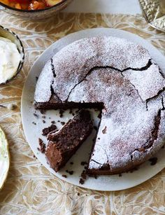 Chocolate and almond torte, by Theo Randall. A brilliant gluten free bake that is perfect for Easter. Almond Torte, Almond Cakes, Chocolate Almond Cake, Chocolate Desserts, Best Chocolate Torte Recipe, Chocolate Meringue, Delicious Chocolate, Sweet Recipes, Cake Recipes