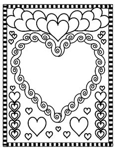 Valentine's Day coloring pages Valentines Day Coloring Page, Heart Coloring Pages, Online Coloring Pages, Coloring Pages For Girls, Coloring Pages To Print, Printable Coloring Pages, Colouring Pages, Free Coloring, Coloring Books