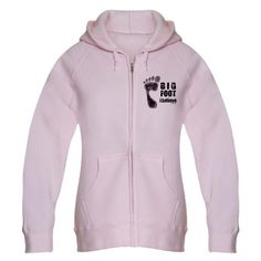 CafePress BIGFOOT/YETI Light Pale Pink Women's Zip #Hoodie