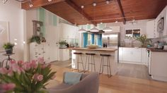HGTV Spring House's Kitchen Remodel — Check out this light and bright kitchen makeover from HGTV and @swarehouse.