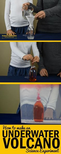 This cool experiment creates a fun visual and demonstrates the scientific fact that hot water rises and cold water sinks. #CoolScienceHQ #Science #ScienceExperiments