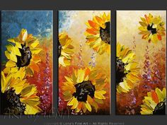 Sunflowers paintings for sale, p.