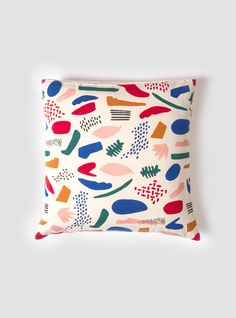 Matisse Cushion timeless piece that would look great in any modern space Ju Goes, Surface Pattern Design, Matisse, Soft Furnishings, Home Textile, Abstract Pattern, Bunt, Printing On Fabric, Crayons