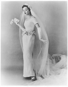 Wedding dress designed by Bonnie Cashin in white leather.....my dream white wedding