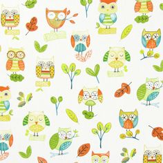 Forest Friends. Owl Teddy Corcodile & Tortoise Childrens Fabric Prints | Prestigious Textiles