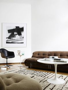 Afra & Tobia Scarpa 'Soriana' Lounge Chair and Ottoman