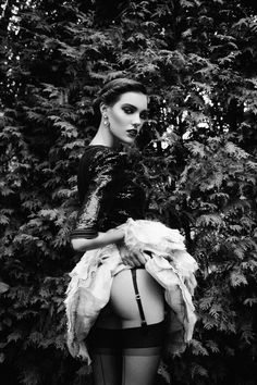 "Oh myyyy!! Masha M and Charlotte in ""Le Charme Discret"" by Richard Bernardin for Dress to Kill Magazine, Winter 2012"