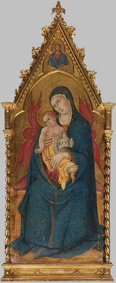 Sano di Pietro - Madonna col Bambino in trono - tempera su tavola, fondo oro - Collezione privata