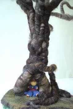 gnome in tree by PhaedraPhoenix, via Flickr