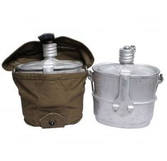 Russian Military Food Kettle and Water Flask of Airborne troops Soviet VDV Military Food, Water Flask, Soviet Army, Bushcraft, No Cook Meals, Kettle, Food To Make, Army Surplus, Camping Survival