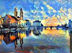 Zurich, Painting, Art, Art Background, Painting Art, Kunst, Paintings, Performing Arts, Painted Canvas