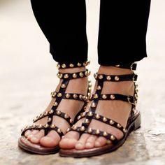 0353fad5acb09 Sam Edelman Eavan black gold studded sandals