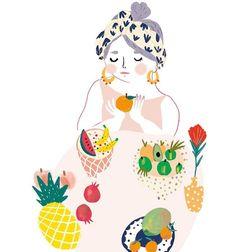 . Mixed Fruit, Insta Art, Cute Girls, Disney Characters, Fictional Characters, Kawaii, Passion, Disney Princess, Drawings