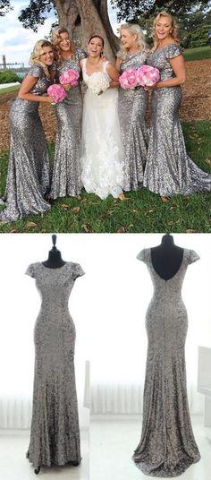 long bridesmaid dresses,silver bridesmaid dresses,sequins bridesmaid dresses,simple bridesmaid dresses,cheap bridesmaid dresses