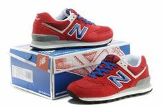 New Balance Men's Shoes New Balance 574 red + AA