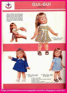 Chá de Bonecas com Gigi Fernandes: Boneca Gui Gui Estrela, 1968 #Giggles #doll #Ideal