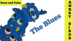 How to draw  Angry Birds The Blues Step by Step | Blue Birds | YaazhiniF...