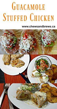 Guacamole Stuffed Chicken ~ www.chewsandbrews.ca