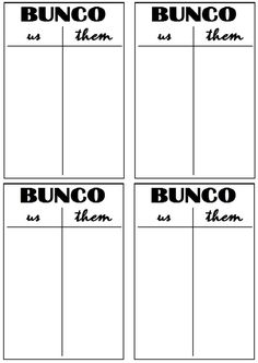 photo about Printable Bunco Cards referred to as 12 Most straightforward Bunco Ranking Sheets visuals within 2017 Bunco activity