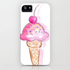 Ice Cream iPhone & iPod Case by Sara Berrenson -I mean come on people you have to have an ice cream phone case Cute Phone Cases, Iphone Cases, New Phones, Betty Boop, Tech Accessories, Ipod, Ice Cream, Apple, Fashion