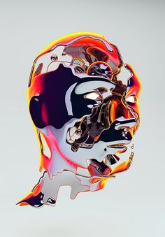 Metallic Faces - http://shop.thecoolhunter.net/index.cfm/catalogue/art/